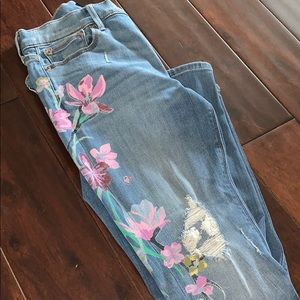Jeans with flower print